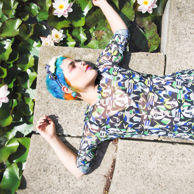 Rainbow hair and beauty to wear - Professional Photographer styled photoshoot in Brighton