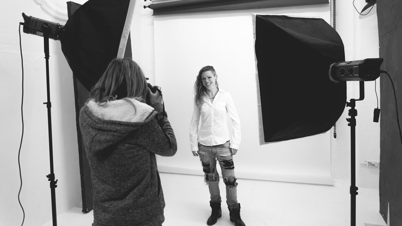 Photography Studio Training Session in Brighton - Behind the Scenes