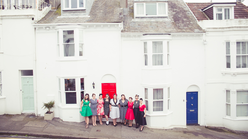 Vintage Hair and makeup Henparty photoshoot